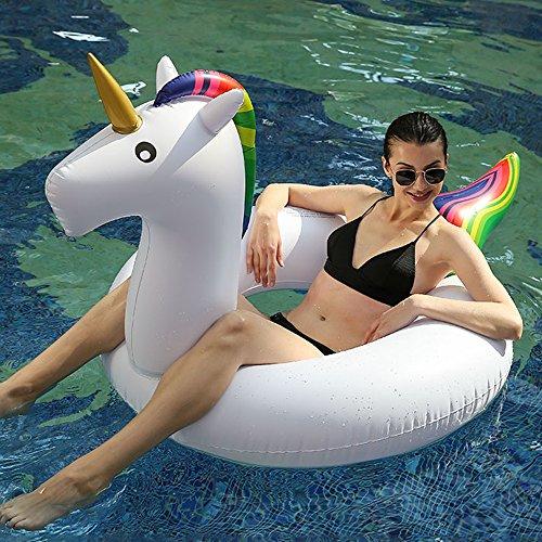 Hanmun Galleggiante gonfiabile Unicorn piscina estate nuovo design grande unicorno per adulti