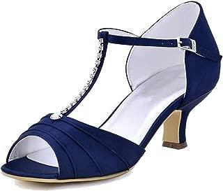 Sky-Pegasus sandals Summer Women White Ivory Wedding Bridal Shoes Low Heel Pumps Satin Lady Pumps red Blue