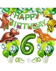 Bluelves Dino Balloon födelsedag, 6 år födelsedagsdekoration, folieballonger dinosaurie, dinosaurieballong 6 födelsedagar, ballong 6 födelsedagar, 6 födelsedagsdekoration, dinosaurie dekoration pojke