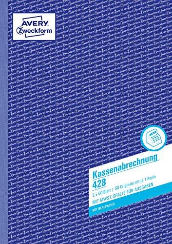 Avery 428 - Libro de formularios de ventas y facturas (A4), color azul