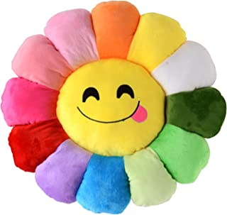 """Poitemsic 18"""" Smile Flower Shaped Seating Cushion Sofa Chairs Floor Pillow for Kids Girls Reading Nook Watching TV Bed Room Decoration"""