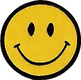 1 X Smiley Happy / Smile Face Logo Badge Iron on Patches (Dia. 2 3/4')