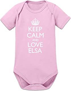 Shirtcity Keep Calm and Love ELSA Baby Strampler by