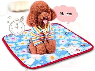 YXMxxm Almohadilla térmica Mediana para Mascotas, 40CM * 40CM Almohadilla térmica eléctrica Interior para Perro