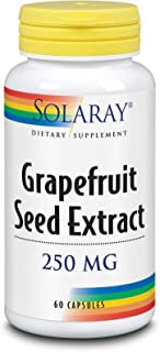 Solaray Guaranteed Potency Grapefruit Seed Extract, Veg Cap (Btl-Plastic) 250mg | 60ct