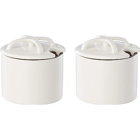 1.35 LB Dansk Kobenstyle II 2pc Condiment Pot Set White