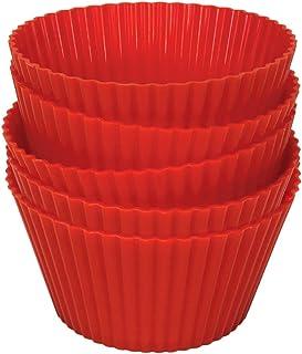 فيليبس قوالب الكب كيك ، سليكون ، احمر ، HD9909-00