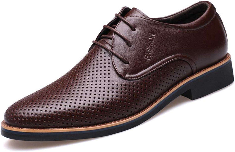 ZHRUI Men Dress Formal shoes Summer Breathable Hollow Out Oxfords Casual Business Wedding shoes (color   Brown, Size   6.5UK=40EU)