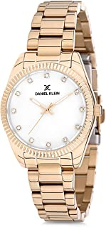 Daniel Klein Womens Quartz Watch, Analog Display and Stainless Steel Strap - DK12180-2