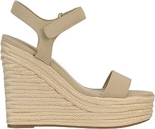 Luxury Fashion   Kendall + Kylie Women MCGLCAT0000C7124E Grey Leather Wedges   Season Outlet