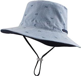JANGANNSA Cartoon Baby Boys Hat Toddler Kids Sun Bucket Hats for Girls Cotton Wide Brim Summer Cap