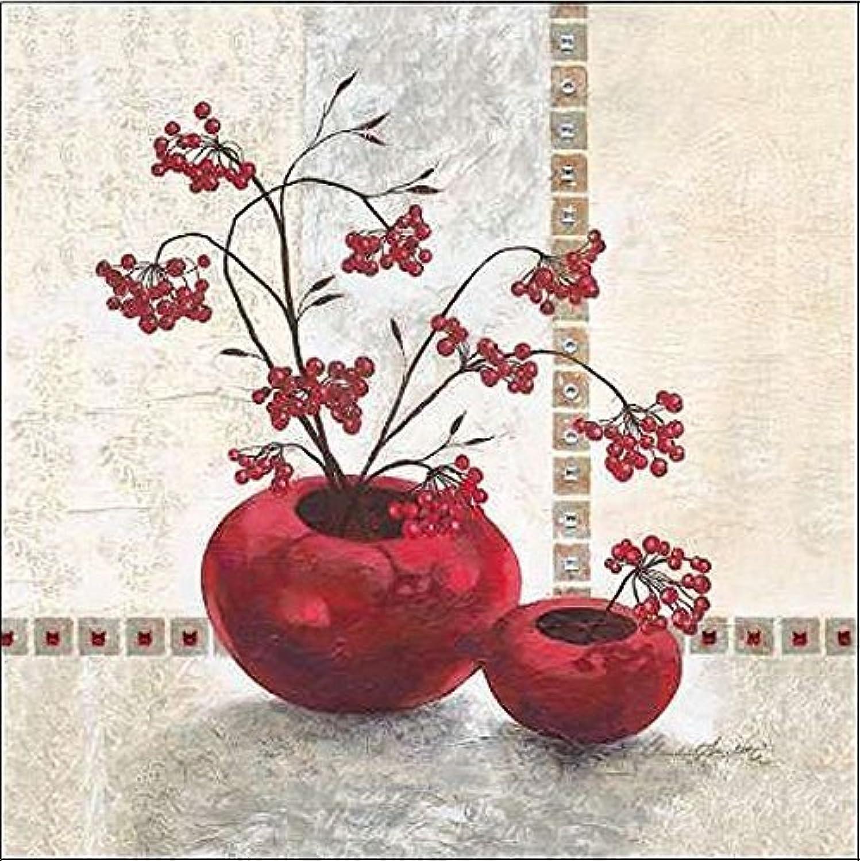 Keilrahmen-Bild - - - Claudia Ancilotti  rot Berries Leinwandbild Beeren Stillleben modern floral Blaumen rot (50x50) B07CJMTQBF a0bce6