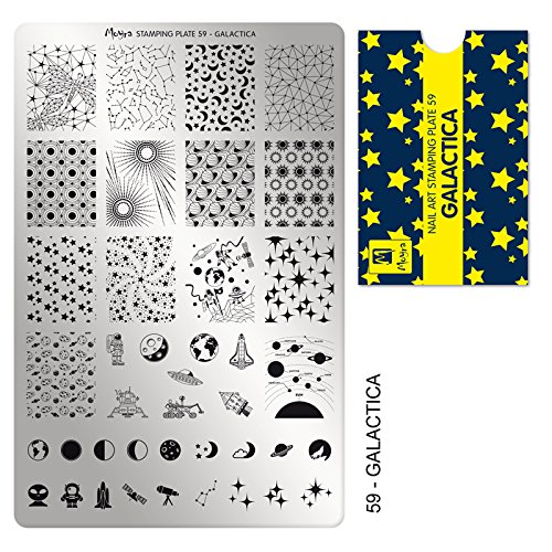 Moyra Laca De Uñas Moyra Placa Para Stamping Nº 59 - Galactica (Tamaño 14,5 Cms X 9,5 Cms) - 1 unidad