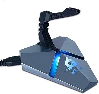 KLIM™ Bungee - Soporte para Cable de ratón + Hub USB 3.0 con 3 Puertos + Producto multifunción + Retroiluminado + Bungee de ratón con Soporte para Cable + 5 años de garantía + Nueva VERSIÓN 2020