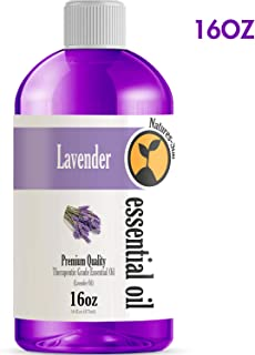 16oz - Bulk Size Lavender Essential Oil (16 Ounce Bottle) - Therapeutic Grade Essential Oil - 16 Fl Oz