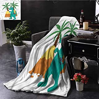 EDZEL Throw Blanket Dinosaur Party Prehistoric Monster Cozy for Couch Sofa Bed Beach Travel 80x60 Inch