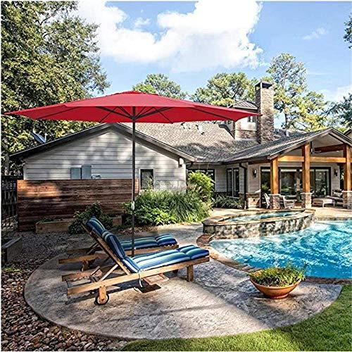Nbvcxz Sonnenschirm, Sonnenschirm Sonnenschirm im Freien 4m 8Rib UV30 + Sonnenschirm lichtbeständig für Gartenbalkon Pool-rot