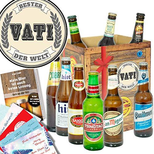 Bester Vati der Welt ++ Bierbox mit Bieren der Welt ++ Geschenke für Vater