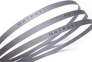 WNJ-TOOL, 3 st bandsåg blad 1325 x 13 x 0,65 x 14 tpi M42 hållbara bimetallbandsågblad för metallskärning 136 cm x 1,27 cm...