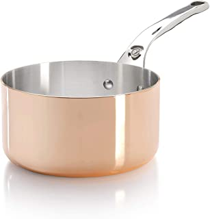 PRIMA MATERA Round Copper Stainless Steel Saucepan 6.25-Inch