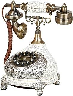 Antique Phone, Retro Style 60s Fashion Wired Button Dial Phone Retro Home Accessories Decoration Retro Landline
