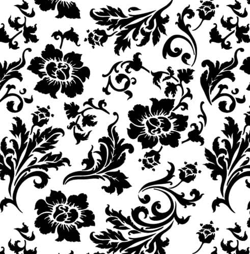Designer Stencils Free Shipping New Chic Roses sold out Wallpaper Stencil Wall #3605 SKU
