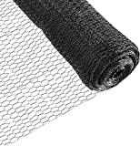 Fencer Wire 20 Gauge Black Vinyl Coated Poultry Hex Netting with 1 inch Mesh (5 ft. x 150 ft.)