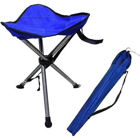kaakaeu Space-saving 3-legged Folding Stool Portable Multifunctional Foldable Simple Chair for Outdoor Camping Picnic Fishing