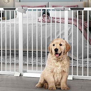 ベビーガード 柵 ダブルロック セーフティゲート スマートゲイト オートクローズ機能付き 片手で開閉スムーズ 高さ80cm 階段/子供/犬/猫 (Color : Height 80cm, Size : 201~208cm)