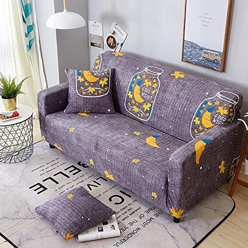 ASCV Funda elástica elástica seccional Wrap Funda de sofá Todo Incluido para Sala de Estar Funda de sofá en Forma de L Loveseat A8 Funda de cojín x2
