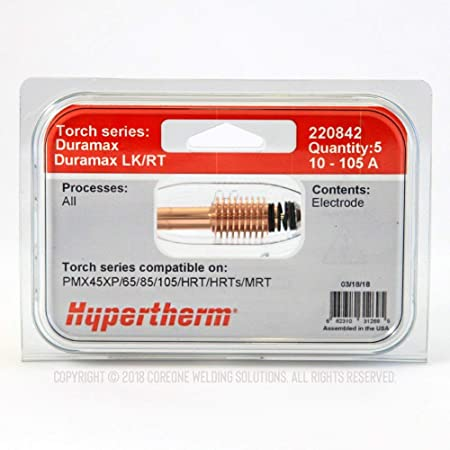 Genuine Hypertherm 220930 Nozzles 45A Powermax 65 85 /& 105 OEM HRT//MRT 5 Pack