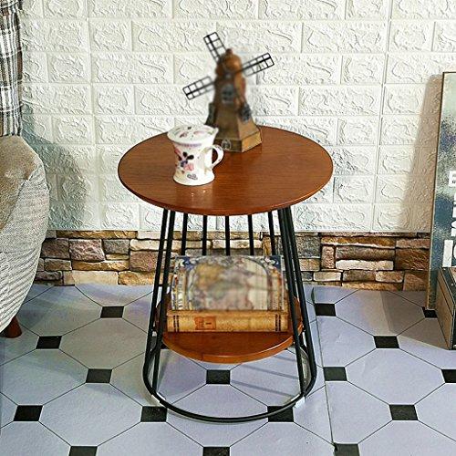 CSQ Table Basse, Restaurant Bar Chambre Salon Hôtel Table Petite Table Ronde Table De Dessert Table Desserte Table D'Appoint Vintage En Bois Massif Taille 45 * 45 * 50 CM table basse (Couleur : B)