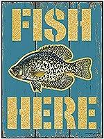 Fish Here ティンサイン ポスター ン サイン プレート ブリキ看板 ホーム バーために