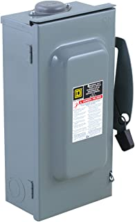 Square D by Schneider Electric DU323RB 100-Amp 240-Volt 3-Pole Non-Fusible Outdoor General Duty Safety Switch,