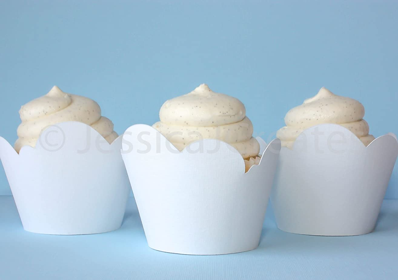 Cupcake Wrapper - White Cloud Cupcake Wrappers - Cloud Cupcake Wrappers - Cupcakes - Cupcake Wrapper - 12 ct