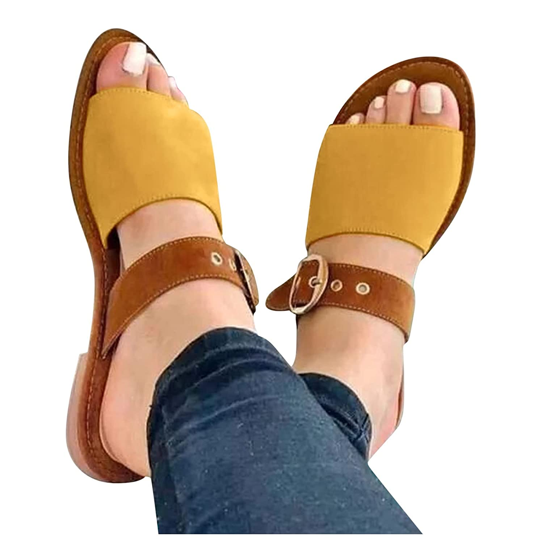 Reokoou Max Max 81% OFF 60% OFF Women's Cute Open Toes Buckle Strap Sandals Flats Comfor
