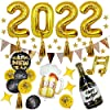 2022 風船セット HAPPY NEW YEAR ニューイヤー クリスマス 新年を祝う 新年バルーンセット 飾り カラフル かわいい ホテル 卒業式 卒業パーティー飾り ゴールドとブラック シャンパン バルーン 誕生日 結婚式 新年 飾り付け風船 忘年会 お正月 お祝い フォトプロップス 写真背景 風船 パーティー 飾り付け 誕生日デコレーションセット 誕生日パーティーバルーンセット