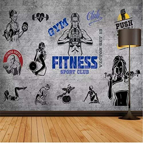 Dalxsh Retro Nostalgie-Großer Baum-Schattenbild-Yoga-Pavillon-Wand-Yoga-Turnhallen-Dekorations-Wandbild-Kundenspezifische Tapete Des Foto-3D-400X280Cm