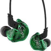 Triple Driver In-Ear Headphones, KZ ZSR High Fidelity Dynamic Hybrid Earbuds(Earphones) (Green)