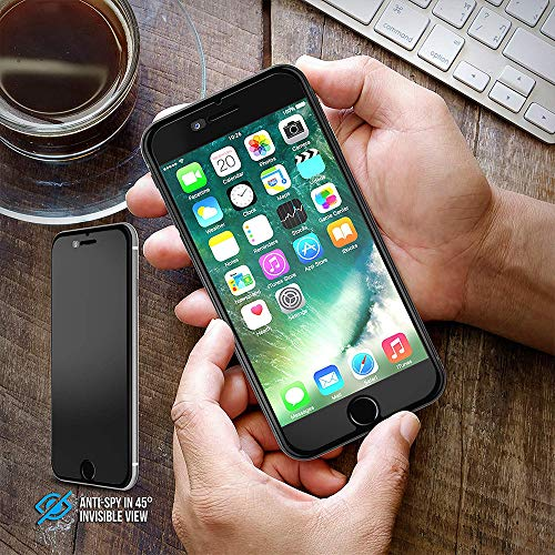 iPhone 8 Plus / 7 Plus Screen Protector, Maxboost [Privacy Black,2 Pack] iPhone 8 Plus Screen Privacy Screen Protector Anti-Spy Tempered Glass Screen Premium Anti-Scratch/Fingerprint, Easy Install