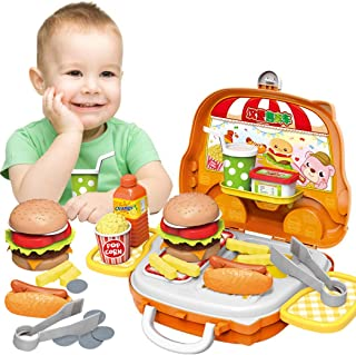 Coxeer Playing Food Set Educational Cooking Toy Set Pretend Play Toy for Children