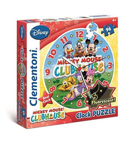 La Casa de Mickey Mouse - Puzzle Reloj, 96 Piezas (Clementoni 23018.1)