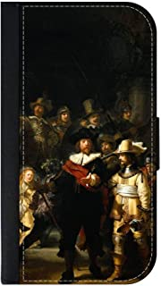 Rembrandt Van Rijn - The Night Watch- Wallet Case for The Apple iPhone 5c only Universal with a Flap Cover and Magnetic Closing Flap-PU Leather and Suede