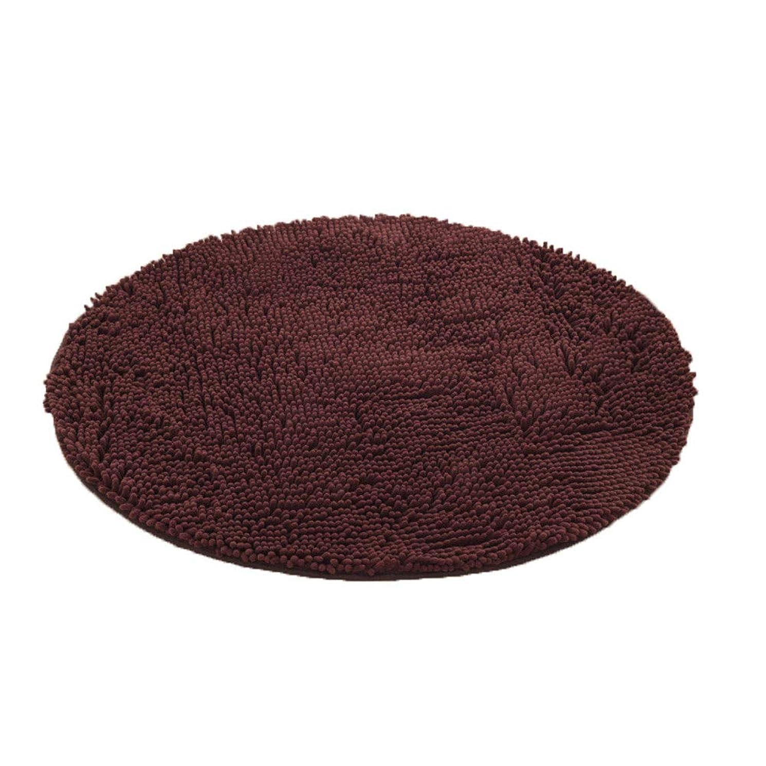 矢ペンス友情ラウンド 厚い ラグ?カーペット,キャタピラー 浴室の敷物 食品 滑り止め付 吸収 バスマット ソフト マイクロファイバー ドアのマット 床マット の ベッド バスルーム-ブラウン 直径:70cm