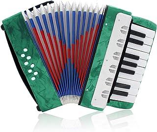 ساز آکاردئونی حرفه ای آکاردئون ، 17 کلید 8 باس برای سازهای مبتدی (سبز)