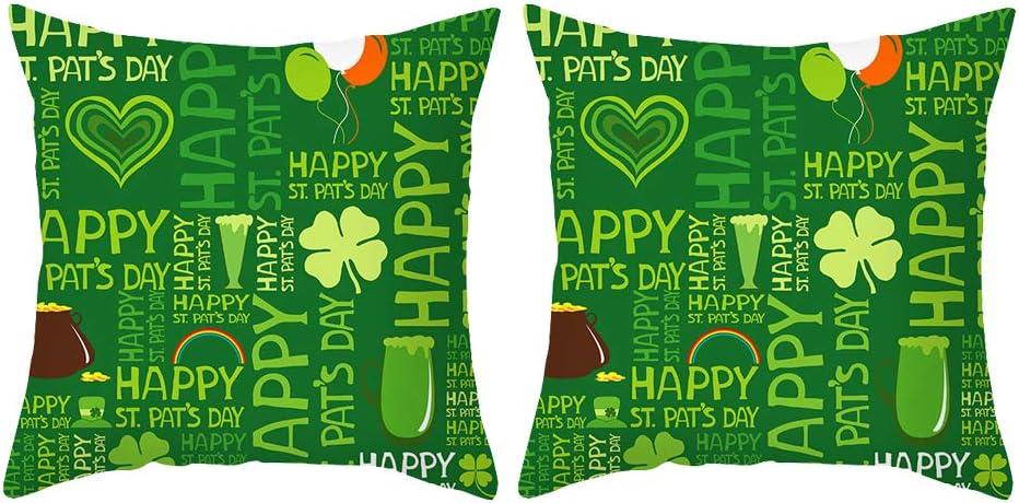 GOSHELL 2 Packs Ranking TOP5 St Patrick's Day Green Covers Pillow Popular overseas Shamro