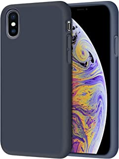 iPhone XS Max Liquid Silicone Case Ultra Thin Cover Protective Soft Silicone Skin Touch with Inside Suede Cushion Cover An...