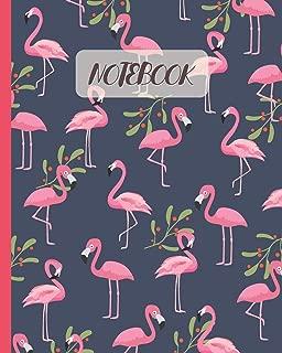 Notebook: Cute Flamingo Cartoon Cover - Lined Notebook, Diary, Track, Log & Journal - Gift for Boys, Girls, Teens, Men, Women (8
