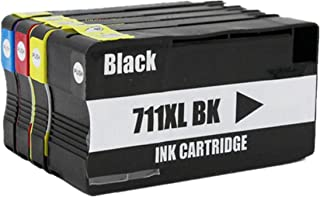 Replacement for HP 711XL 711 XL for HP711XL for HP711 CZ129A CZ130A CZ131A CZ132A Ink Cartridge Inkjet Cartridges Use for Designjet T120 24