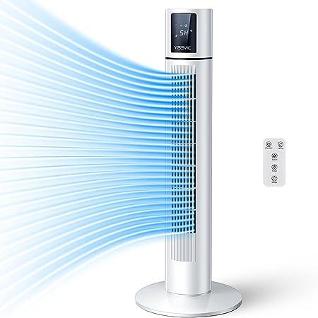 YISSVIC Ventilateur Colonne Oscillant avec télécommande Ventilateur Tour Minuterie 8H Écran Tactile LCD pour Bureau Chambre